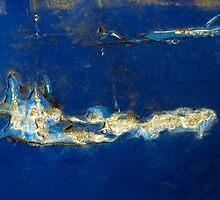 Iceberg rising through peeling paint by Shelley Heath