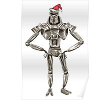 Christmas Cylon in a Santa Hat Poster