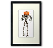Halloween Cylon: Pumpkinhead Framed Print
