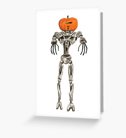 Halloween Cylon: Pumpkinhead Greeting Card