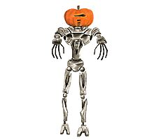 Halloween Cylon: Pumpkinhead Photographic Print