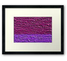 Slice of Purple Framed Print