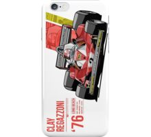 Clay Regazzoni - 1976 Long Beach iPhone Case/Skin