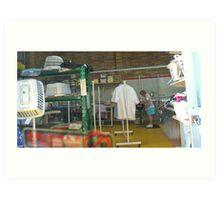 Drive-through laundry, Bundaberg Art Print