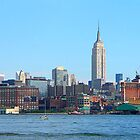 Manhattan Skyline Seen from Hoboken, NJ by Susan Savad