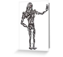 Cute Cylon taking a Selfie Greeting Card