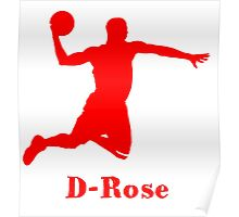 D-Rose Shadow Design Poster