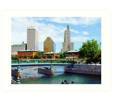 View From Waterplace Park Art Print