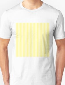 Classic damask stripes in pastel yellow. T-Shirt