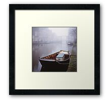 Canal In The Mist Framed Print