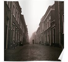 Cyclist In The Mist Poster