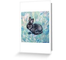 Blackberry Bunny Greeting Card