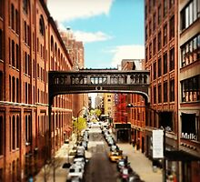 A view from the High Line, New York City by crashbangwallop