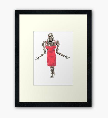 Red Dress Cylon Framed Print