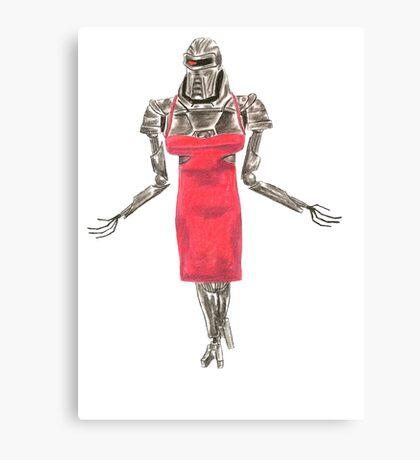 Red Dress Cylon Canvas Print