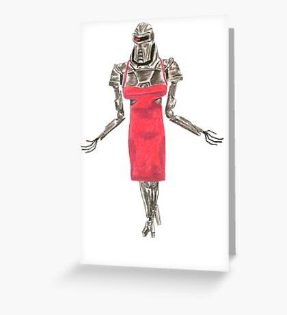 Red Dress Cylon Greeting Card