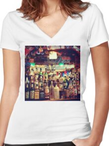Bar, New York City Women's Fitted V-Neck T-Shirt