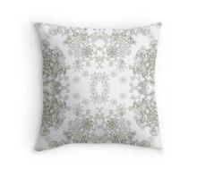 White ornamental textiles-Venus VIII  Throw Pillow