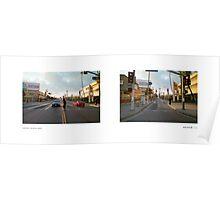 Crenshaw Boulevard + Martin Luther King, Jr. Boulevard (I), Los Angeles, California, USA...narrowed. Poster