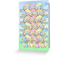 Happy Easter Card Bunny Bunny Bunny Bunny Greeting Card