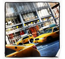 New York City Taxi Cabs Poster