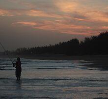 sunset fishing-rsa by andrew crawshay-hall