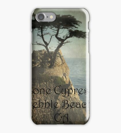 Lone Cypress, Pebble Beach, Ca iPhone Case/Skin