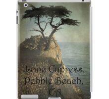 Lone Cypress, Pebble Beach, Ca iPad Case/Skin