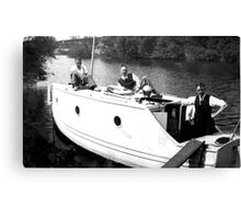 Boating on the River Ouse-York -1940's Canvas Print