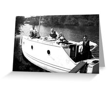 Boating on the River Ouse-York -1940's Greeting Card