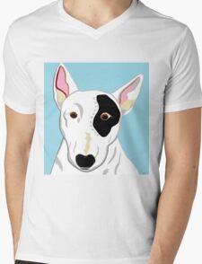 Bull Terrier Mens V-Neck T-Shirt