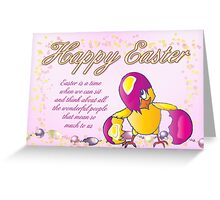 Happy Easter With Chick  Greeting Card
