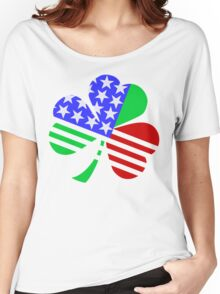 red, white, blue clover Women's Relaxed Fit T-Shirt