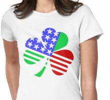 red, white, blue clover Womens Fitted T-Shirt