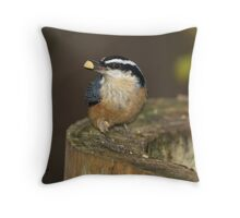 Red-breasted Nuthatch 01 Throw Pillow