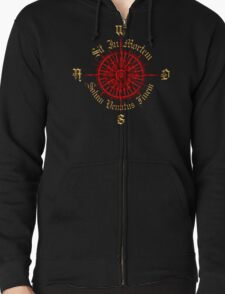 "PC Gamer's Compass - ""Death is Only the End of the Game"" Zipped Hoodie"