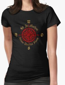 """PC Gamer's Compass - """"Death is Only the End of the Game"""" Womens Fitted T-Shirt"""