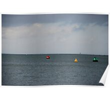 Bouys Isle of Wight Poster