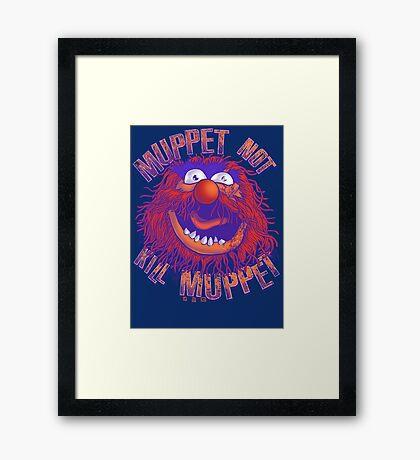 Puppet Law Parody Framed Print