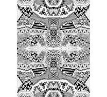 Black and White Busy Body Pattern #2 Photographic Print