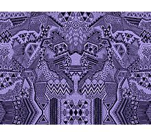 Busy Body Blue Line Pattern Photographic Print