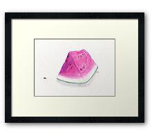 Summertime Watermelon Framed Print