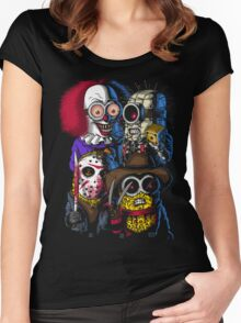 Mini Evil Parody Women's Fitted Scoop T-Shirt