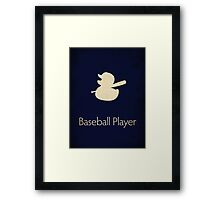 Baseball Player Framed Print
