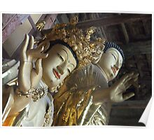 Maitreya Buddha and Friend Poster