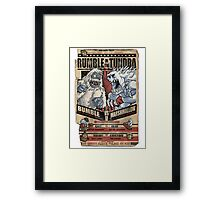 Rumble in the Tundra Parody Framed Print