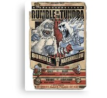 Rumble in the Tundra Parody Canvas Print