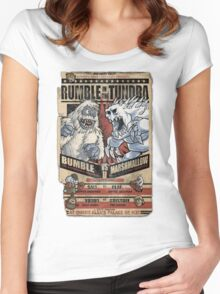 Rumble in the Tundra Parody Women's Fitted Scoop T-Shirt