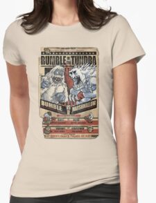 Rumble in the Tundra Parody Womens Fitted T-Shirt