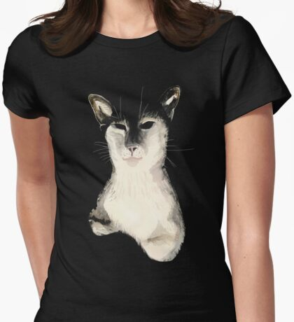 Wise Cat Womens Fitted T-Shirt